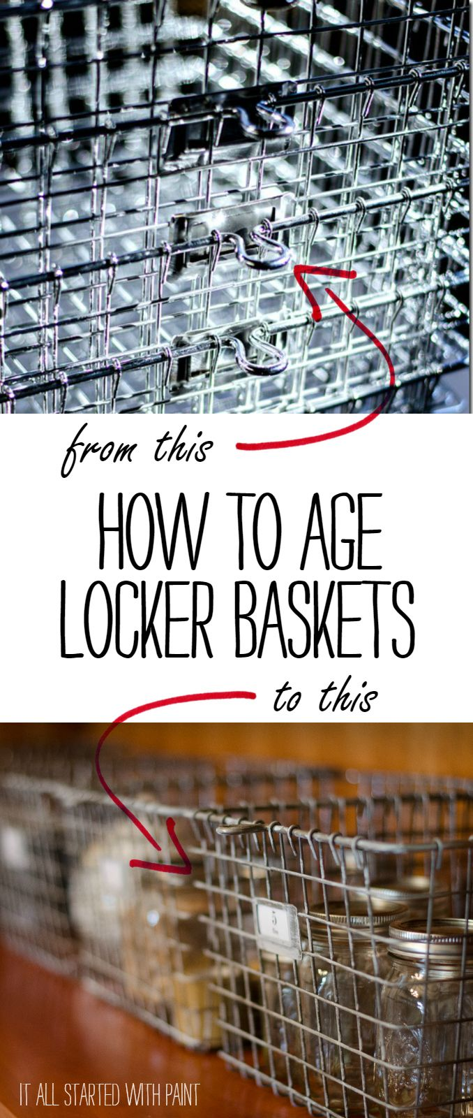 How To Turn Shiny, New Locker Baskets Into Aged, Vintage Look