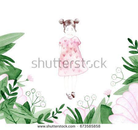 Spring girl - illustration.  @knyshksenya