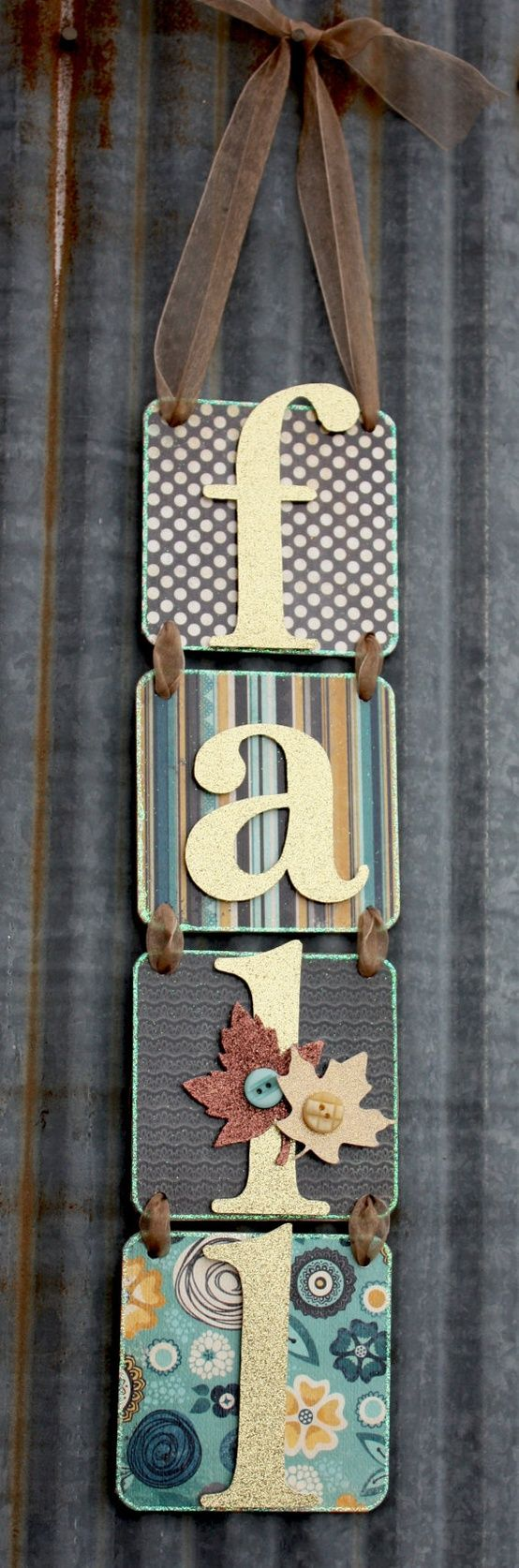 so cute and so easy! Can make any word :) In lieu of wreaths.