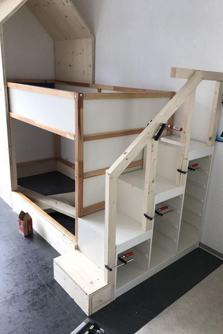 Was für eine schöne Idee für ein Kinderzimmer, Stauraum und Treppe in einem – # Stauraum #A #und #Idee # in einem