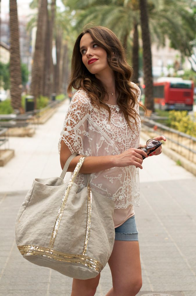 lace top + girly accessories