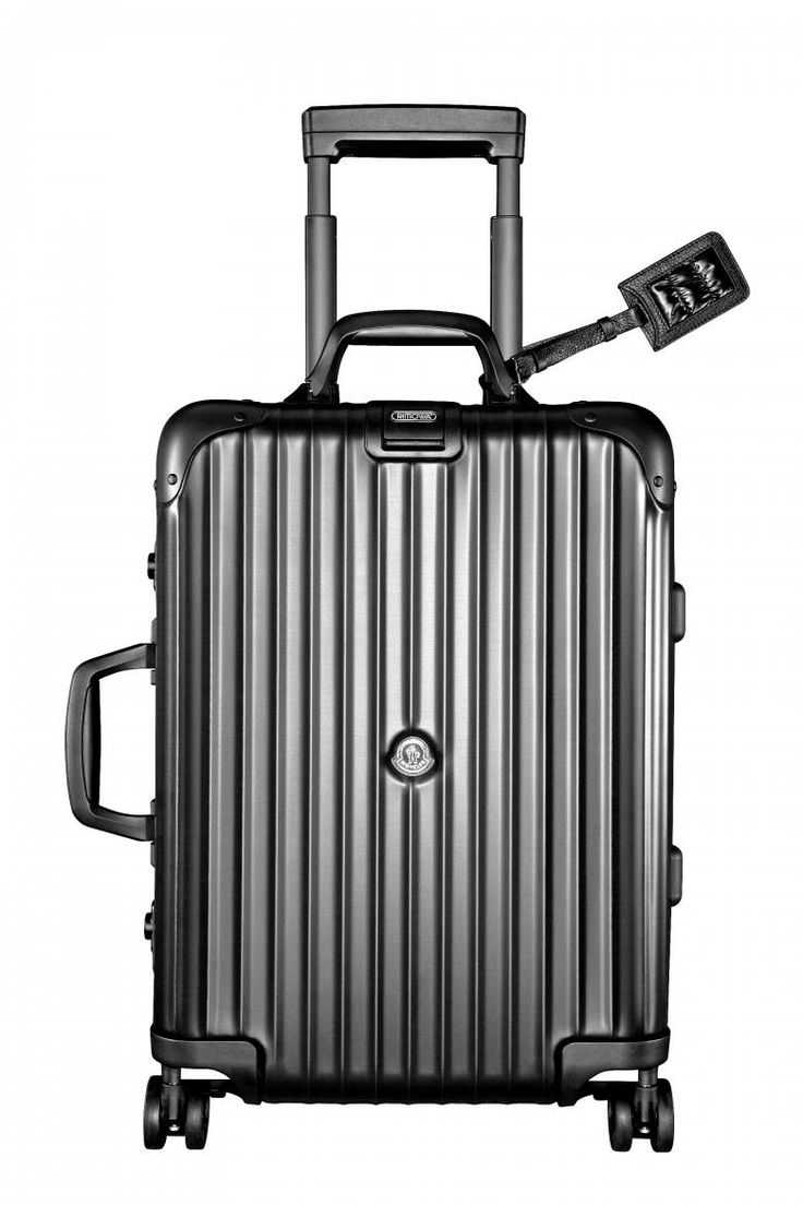moncler and rimowa topas stealth suitcase