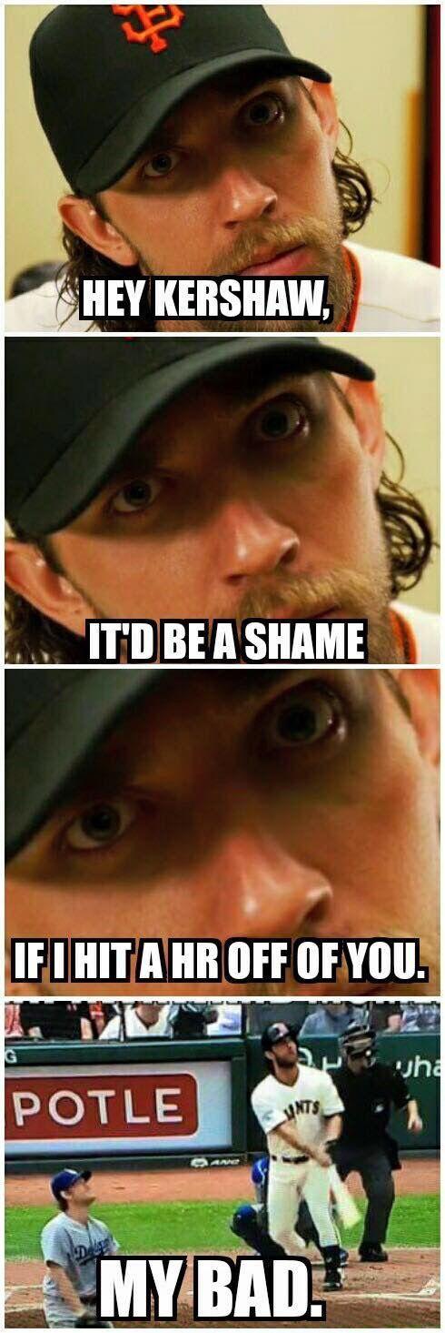 2016 was the season of Pitchers Who Rake. Madison Bumgarner meme
