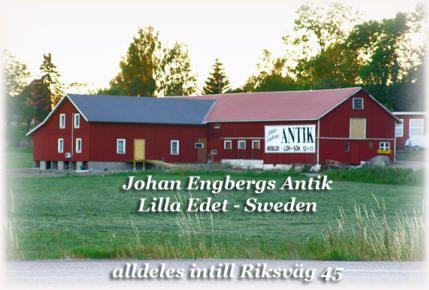 Johan Engbergs Antiklada i Lilla Edet intill E45 har öppet på lördatar & söndagar 12-17 - året om! VARMT VÄLKOMMEN.