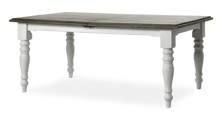 Välkomna att samlas kring Cornwall, ett vackert matbord med lantlig charm och mjukt formspråk. Bordet bjuder in till att umgås och att samtala länge med varandra. När du får gäster och bordet blir för litet kan det enkelt förlängas med iläggsskivan som ingår. Cornwall är tillverkat av upp till 100 år gammal återvunnen massiv pinje. Det svarvade underredet har en klassisk vitlackerad finish och ger matbordet karaktär. Den gråbrun vaxade bordsskivan är behandlad för att den ska andas naturlig…