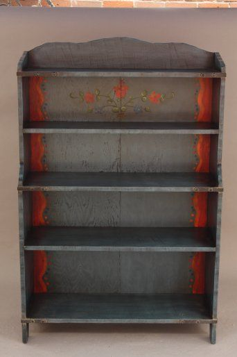Hard To Find Rancho Blue Monterey Bookcase, Miscellaneous, Antique Monterey,  Rancho And California Furniture/Lighting At Revival Antiques