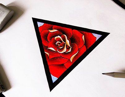 "Check out new work on my @Behance portfolio: ""Эскиз татуировки. Роза в треугольнике."" http://be.net/gallery/37278633/eskiz-tatuirovki-roza-v-treugolnike"