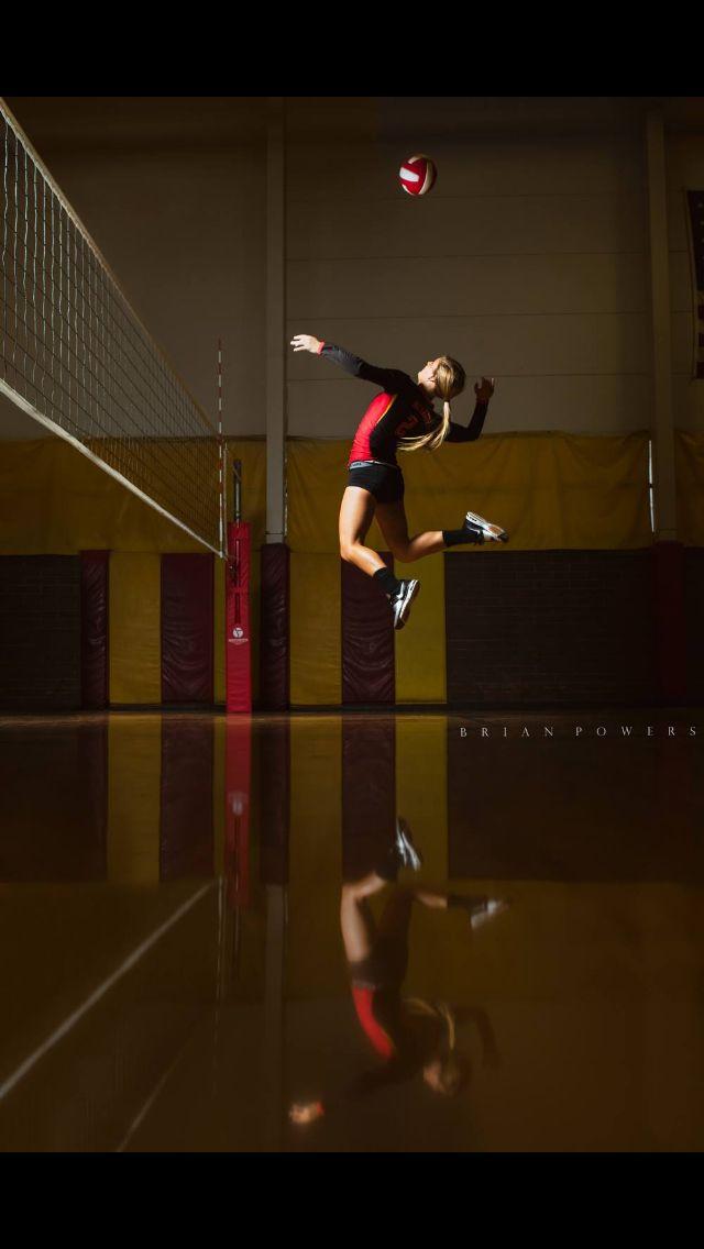 Una persona que practica deportes / voleibol