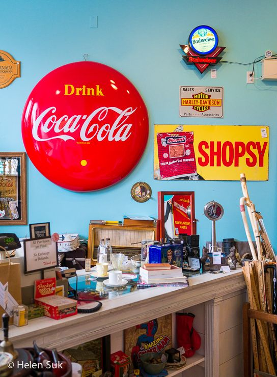 Love all the colourful retro paraphernalia inside Frugal & Company, a vintage shop in Picton. Find out what else to see and do in Prince Edward County.