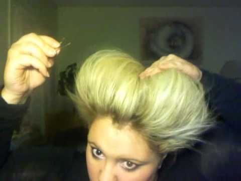 """how to make the queen of hearts """"heart shaped hair"""" without a wig... it looks painfull to get out though :/"""