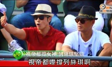 Kevin Cheng and Ben Wong at the Hong Kong Tennis tournament