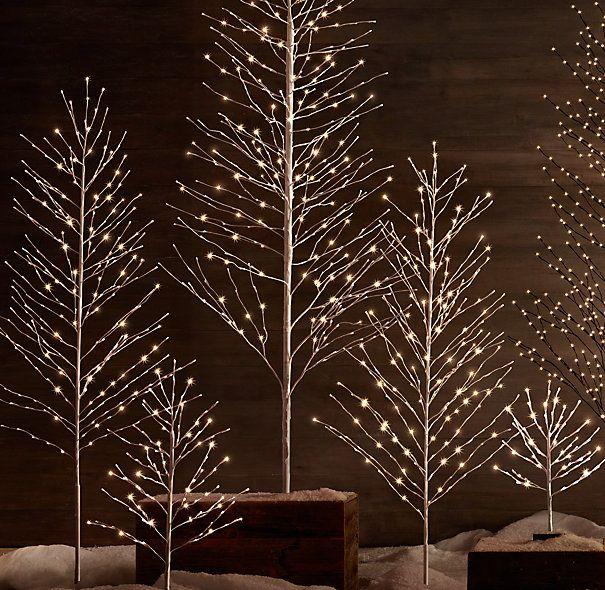 Restoration Hardware Starlit Tree Decorated