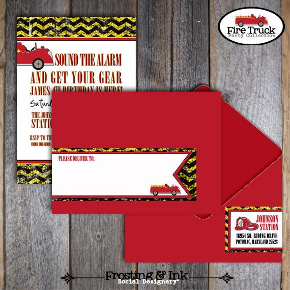 75 best images about fireman party – Fire Truck Party Invitations