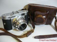 Обслуживался 1950s voigtlander vito b 35mm пленочный фотоаппарат + чехол