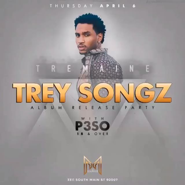 "#TONIGHT KingOfThursdays Trey Songz ""Tremaine"" album release party! + Special Guest ( 3311 S Main st Los Angeles Ca 90007 ) Or 424.269.8391 for more info 18+ Thursdays! 2017 Your NEW 18+ Destination inside @TheMarkeLA  Text ""KOT"" to 424.269.8381 for Guestlist 