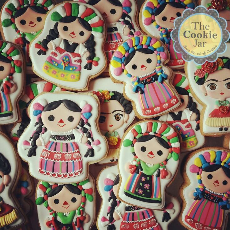Mexican Dolls and Frida Decorated Cookies