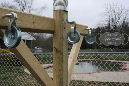 Really nice, detailed instructions for a T-post pulley clothesline (includes a cost break-down!).