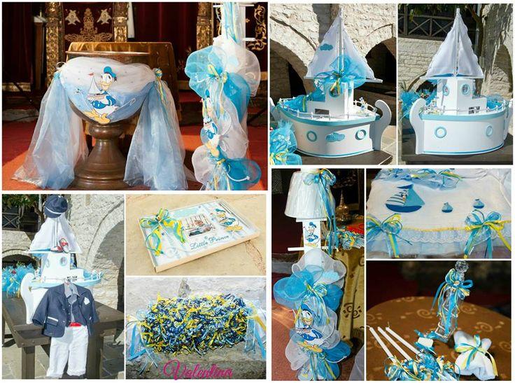Βάπτιση με θέμα τον Donald Duck σε αποχρώσεις γαλάζιου και κίτρινου!!!