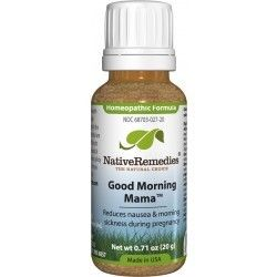 Good Morning Mama. Homeopathic remedy to relieve symptoms of morning sickness associated with pregnancy such as nausea.