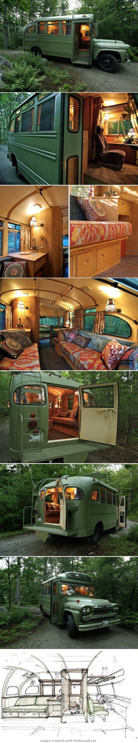 1959 Chevy bus to camper conversion |||| not a fan of the interior fabrics, but.........mine!