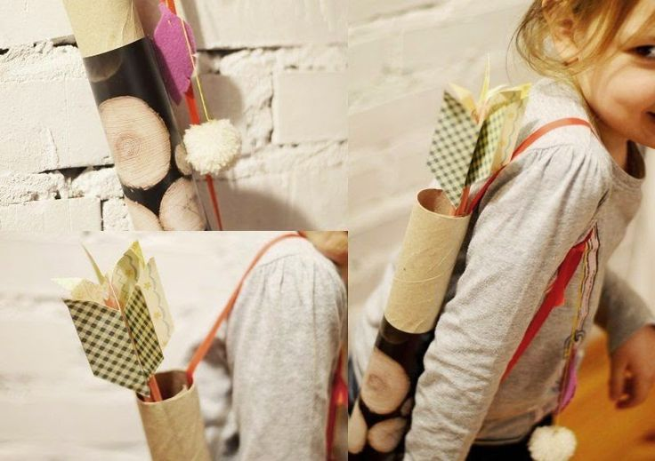 DIY paper quiver full of arrows. DIY papierowy kołczan pełen papierowych strzał ;)