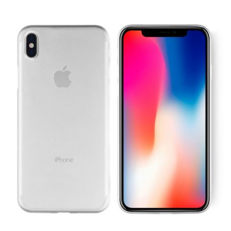 KEY CORE Slim Air Case Frosted White - IPhone X. Lyxigt transparent  mobilskal fr 4aa6f1f9ffc98