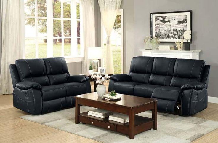 Best Homelegance Greeley 2 Piece Sofa Set 8325Blk 2Set 400 x 300