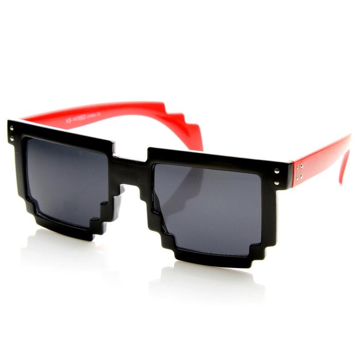 Square Pixel 8-Bit Graphics Gamer Geek Novelty Sunglasses 8661