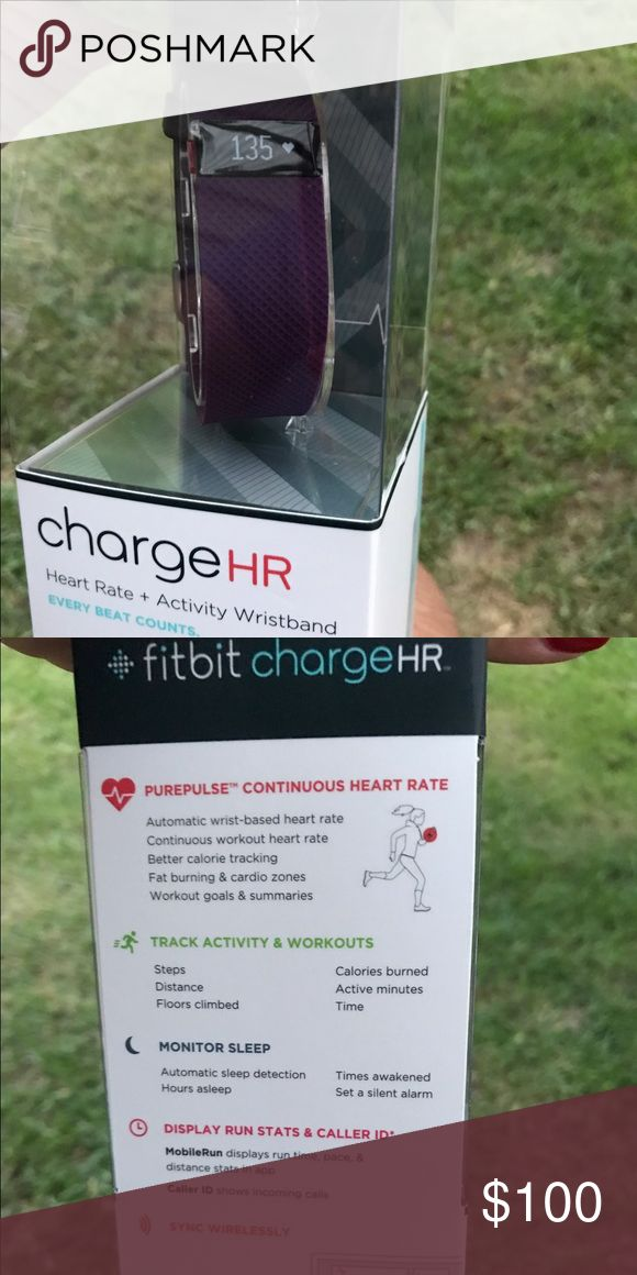Fitbit Charge HR Brand spanking new, in box Fitbit Charge HR. Size large, plum color Fitbit Other