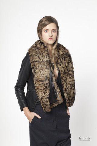 leopard print rabbit scarf – horovitz