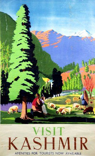 Fantastic A4 Glossy Print - 'Visit Kashmir' (1) - Taken From A Rare Vintage Travel Poster (Vintage Travel / Transport Posters) by Unknown http://www.amazon.co.uk/dp/B006WZILKI/ref=cm_sw_r_pi_dp_Og1nvb11KFG4Y
