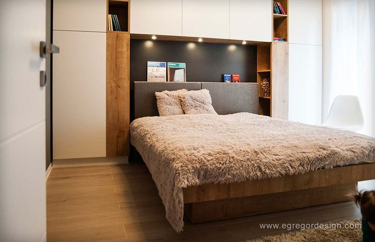 amenajare si mobilare apartament cu doua camere pat matrimonial la comanda