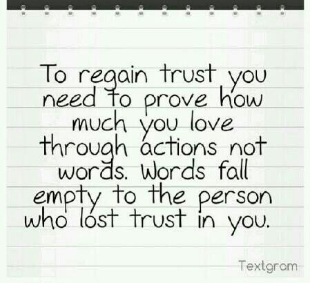 To trust again.......it can be done.... i want it to be done......just so you know