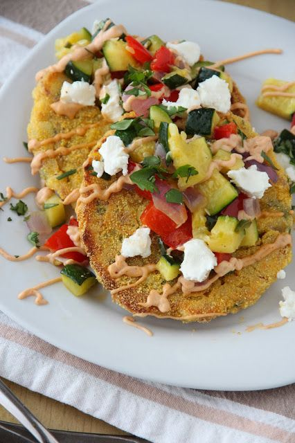 Chipotle Corn Cakes with Goat Cheese and Roasted Vegetables: a ...