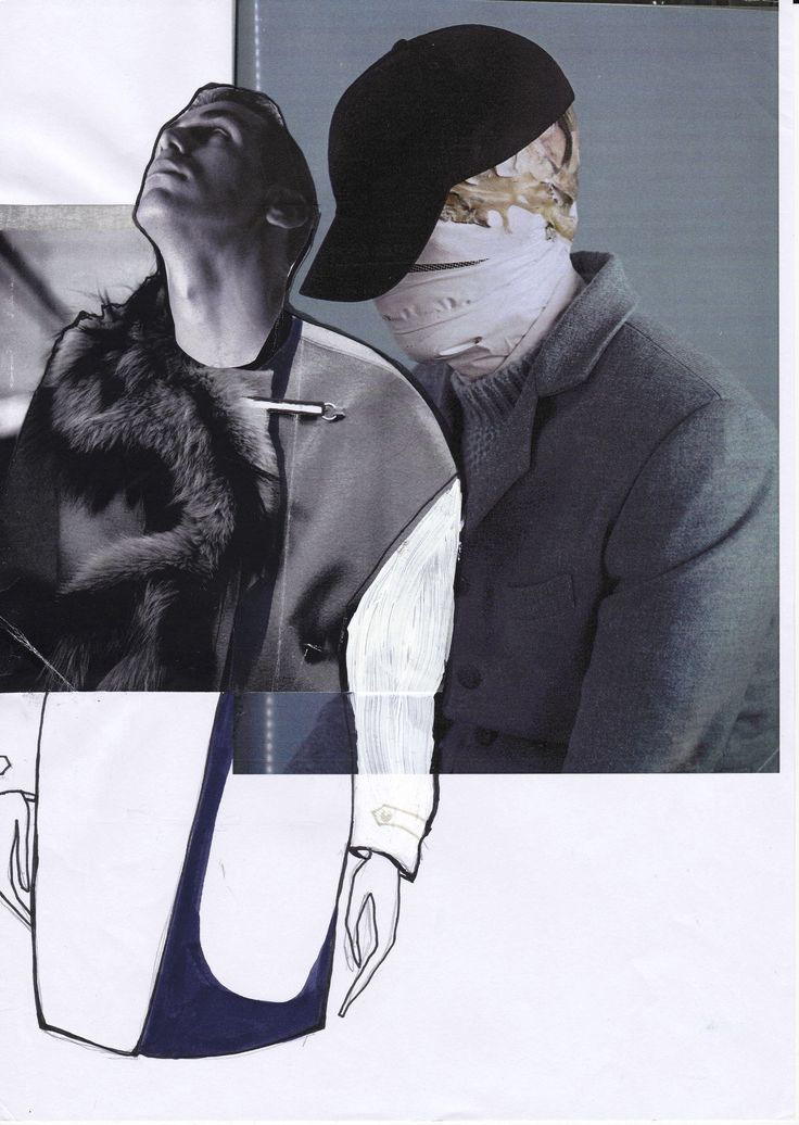 Fashion Sketchbook - fashion collage; fashion sketch; fashion portfolio // Katarina Lindell