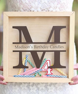 Personalized Birthday Candle Keeper