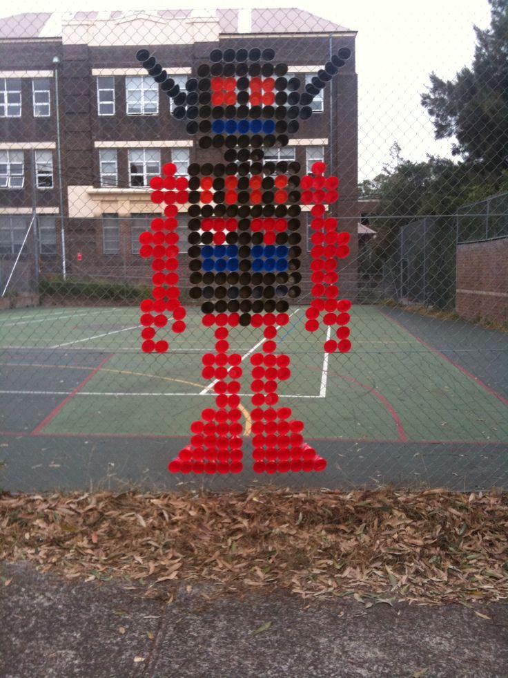 Robot. Plastic Cups.