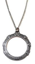 Stargate SG-1 Silver Stargate Antique Finish NECKLACE