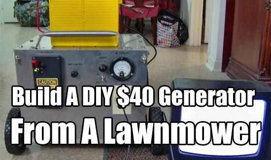 $40 Generator From A Lawnmower, diy, homesteading, prepping, emergency power, upcycle, generator, cheap generators, survival power,
