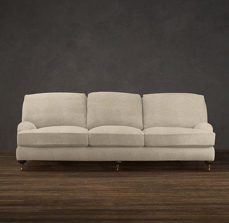 Restoration Hardware English Roll Arm Sofa In Perennials Linen. This Is  Better In Velvet/