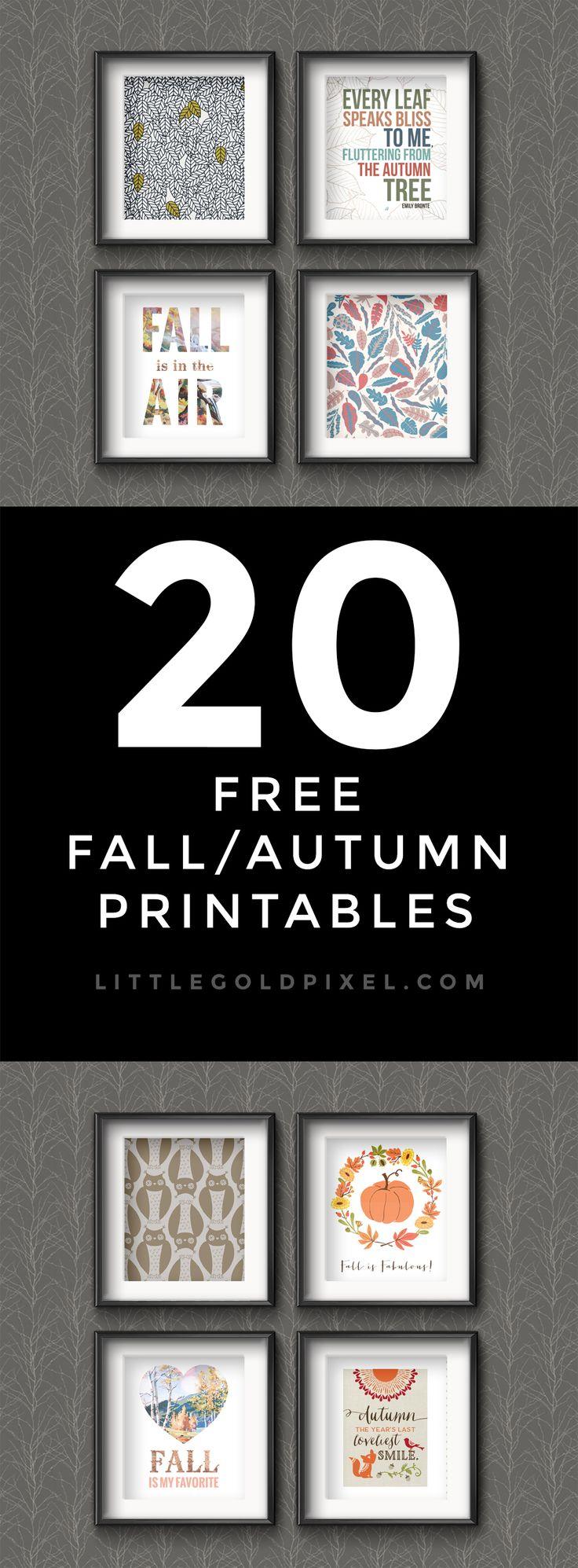 20 Awesome Free Fall Printables