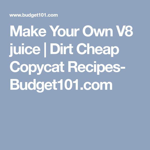 Make Your Own V8 juice | Dirt Cheap Copycat Recipes- Budget101.com