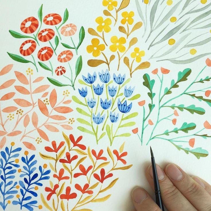Progress. #makingitupasigo #painting #pattern #watercolor…