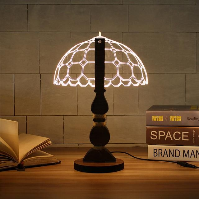 2d Style Table Lamp Dimmable Table Lamps For Bedroom Lamp 3d Led Lamp