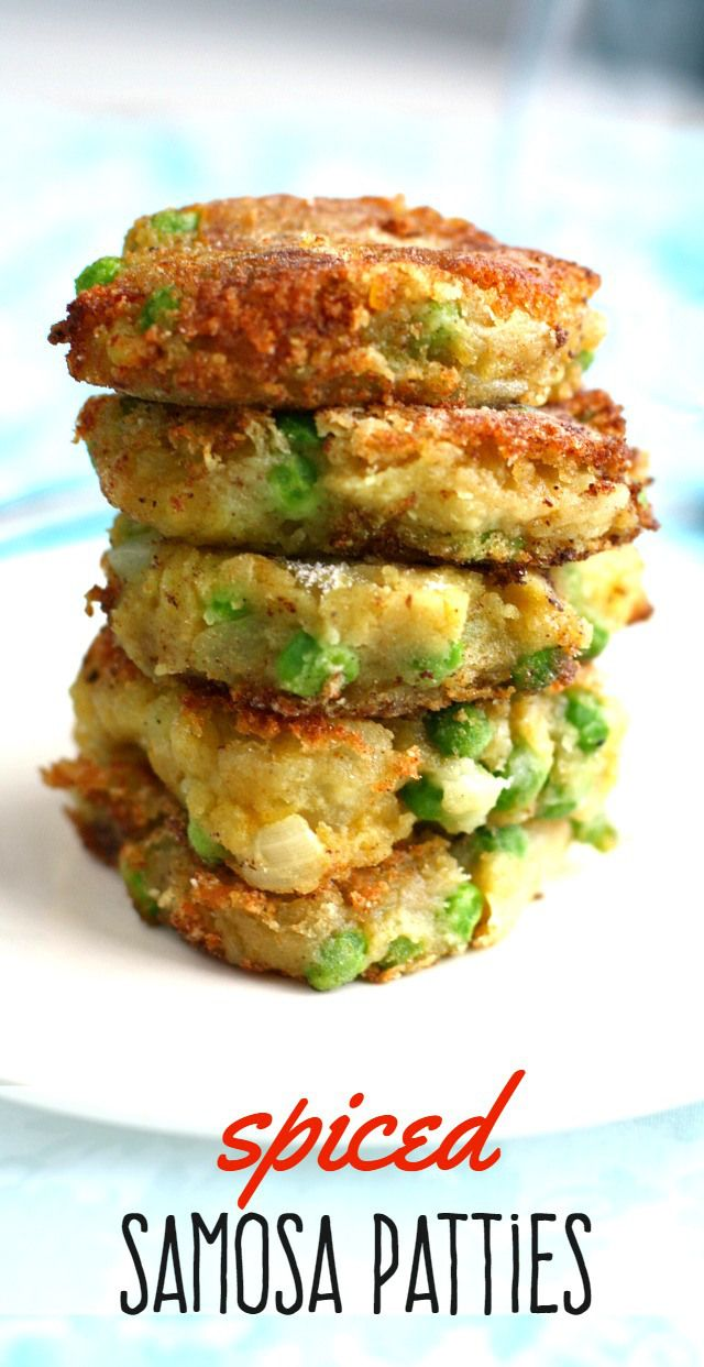 Deliciously addictive spiced samosa patties! Make these savory patties and enjoy with a salad for a quick dinner! From theprettybee.com