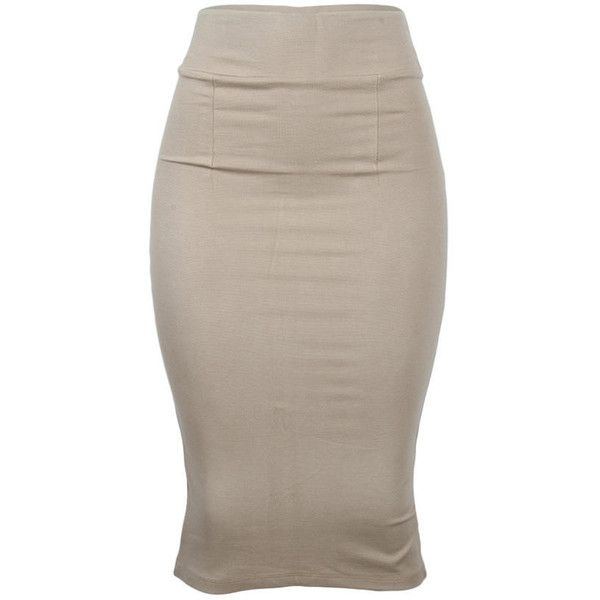 The Zoe- Pencil Skirt with Back Slit - Carton ❤ liked on Polyvore featuring skirts, bottoms, brown pencil skirt, pencil skirt, fitted pencil skirt, knee length pencil skirt and fitted skirts