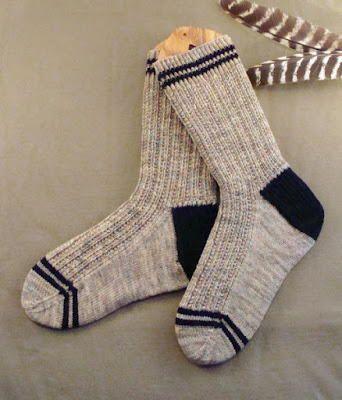 Men's Twin Rib Knit Sock Pattern   AllFreeKnitting.com