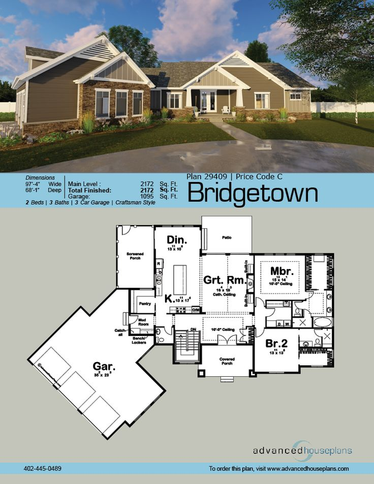 82 best images about ahp 1 story house plans on for Craftsman house plans first floor master