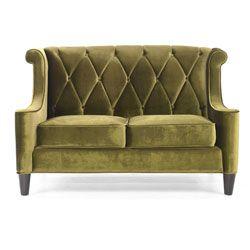 157 best images about green velvet on pinterest green for Button tufted velvet chaise settee green