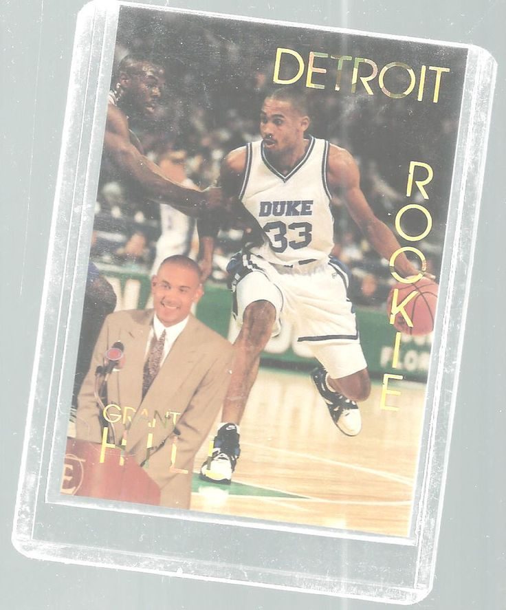 Grant Hill Rookie Duke Detroit Basketball Card 1994/95 Sports Stars USA 1/10000 #DukeDetroit